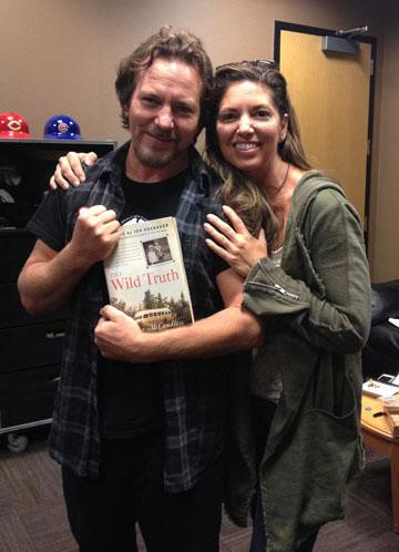 Carine with Eddie Vedder
