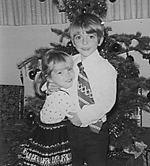 Carine and Chris at Christmas