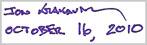 Jon Krakauer Signature